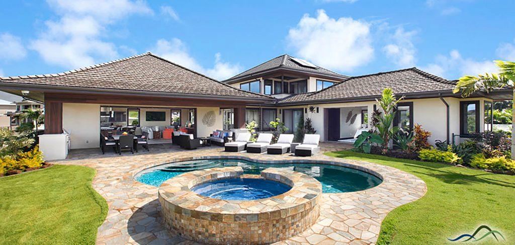Lanai Backyard Tropical Design