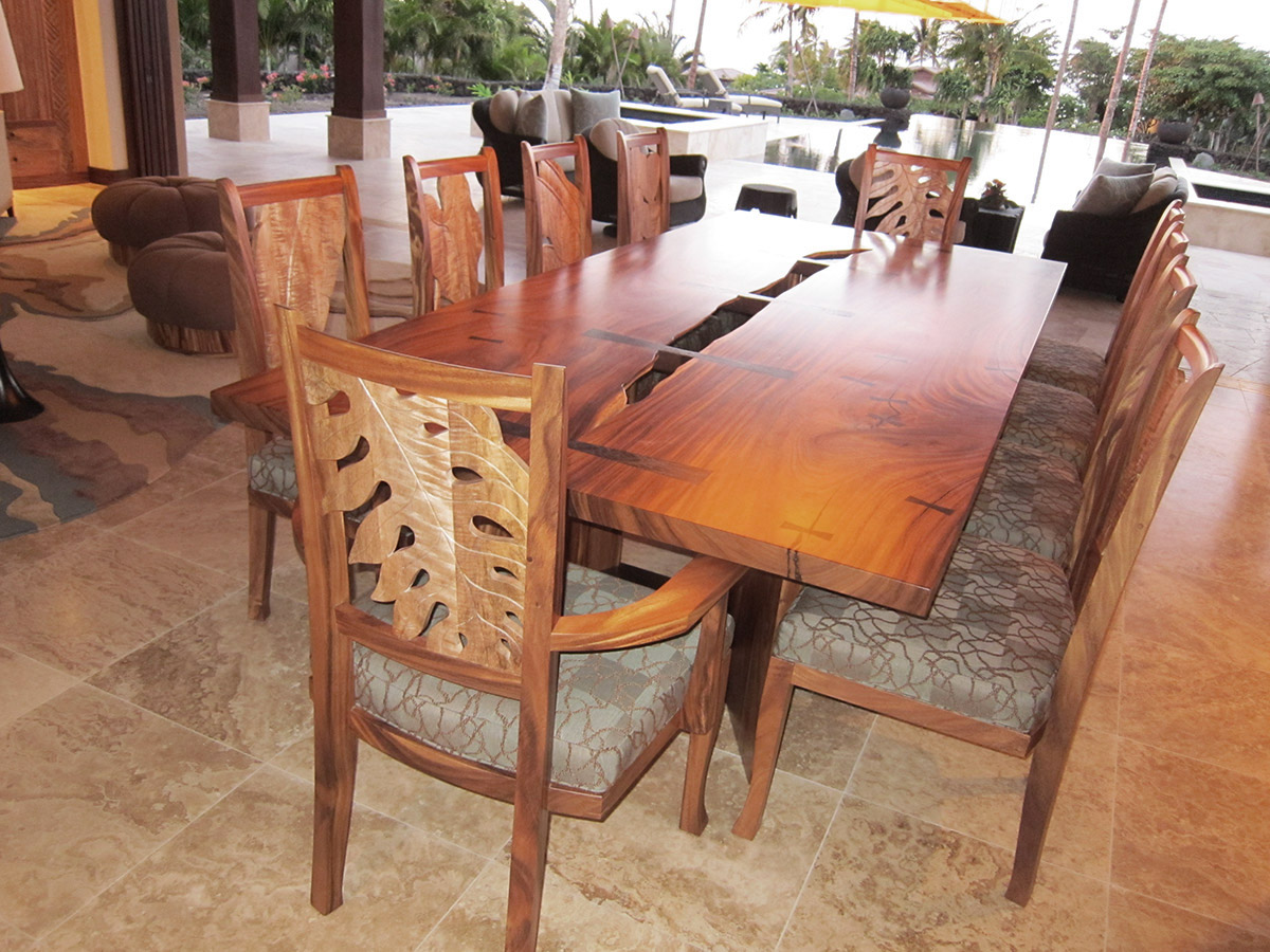Custom furniture Carved Back Dining Chairs