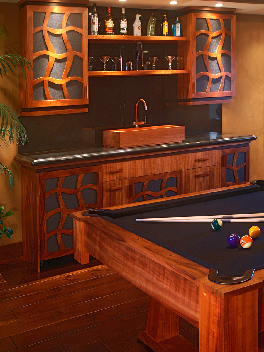 Lanai Billiards Room Design, Hawaii