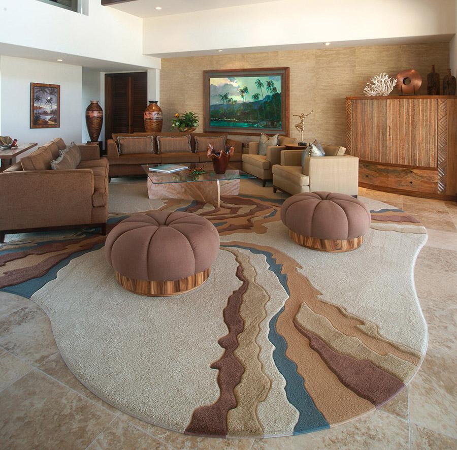 Hawaii living room home accents custom design