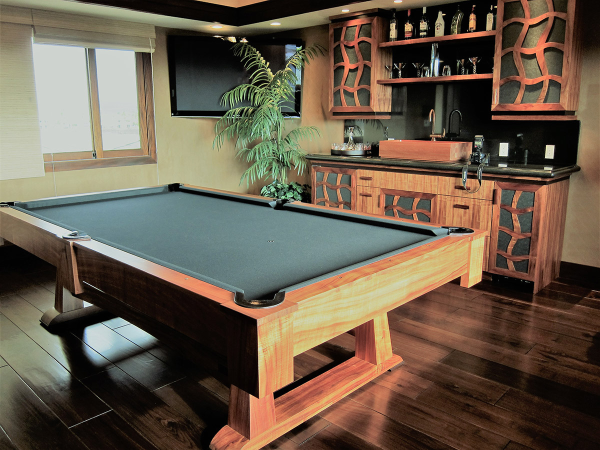 Tropical Designed Billiards Room