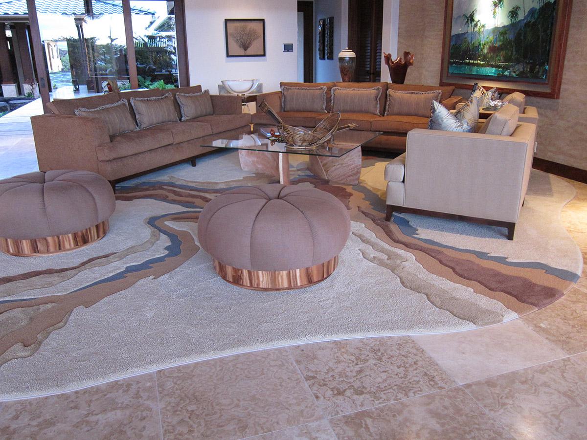 Lanai Living Room On Black Sand Beach