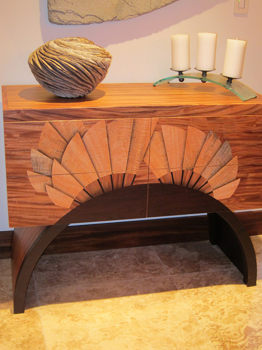 Fan Credenza Custom Furniture