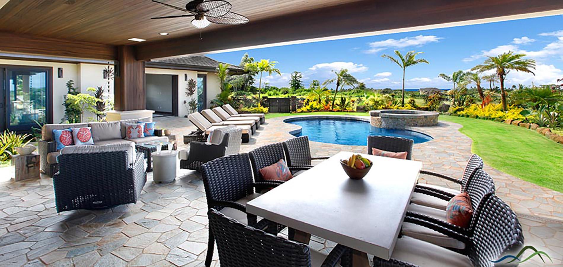 Outdoor Lanai View Design, Gayle Lee Design