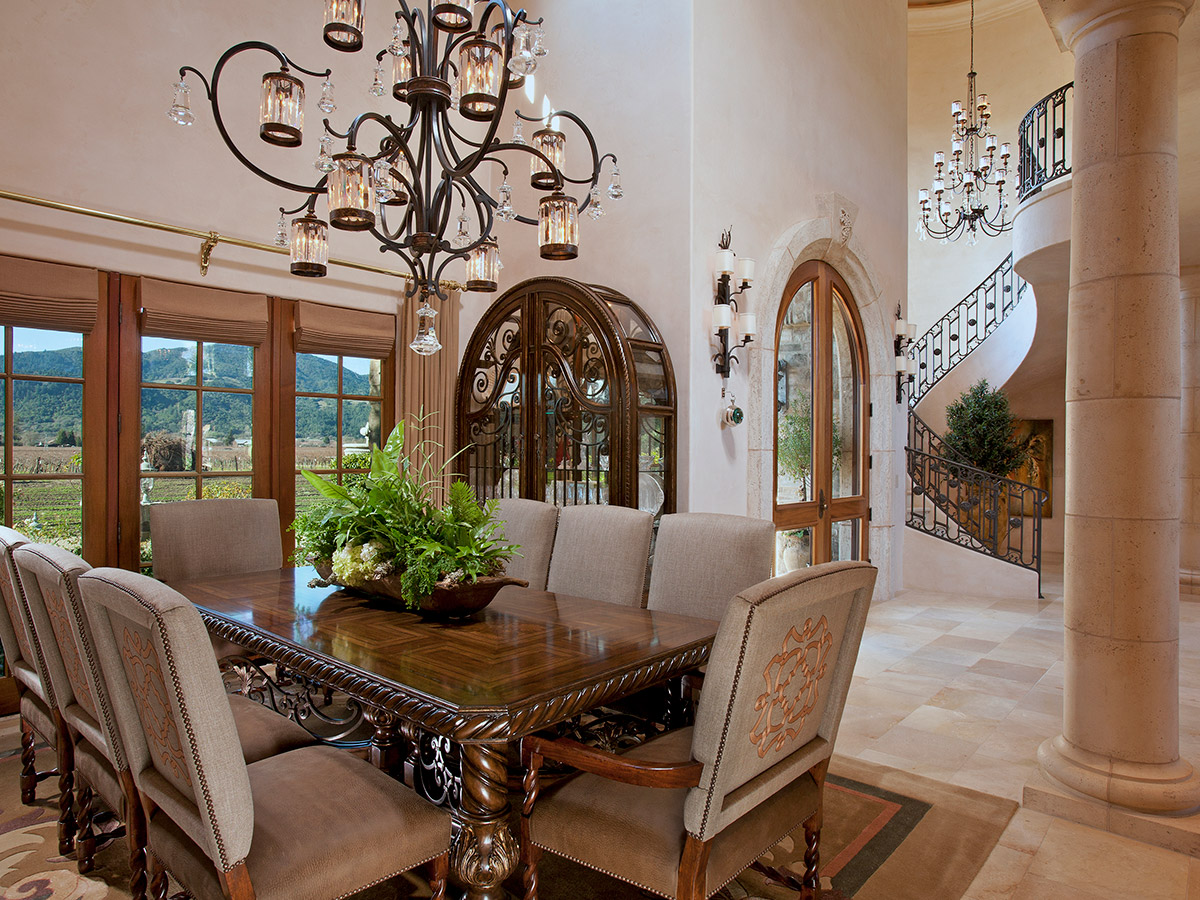 French Chateaux Style Dining Room Design