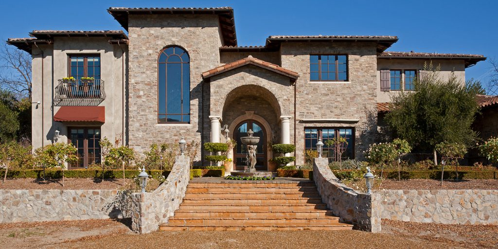 French Chateaux Vineyard House Design