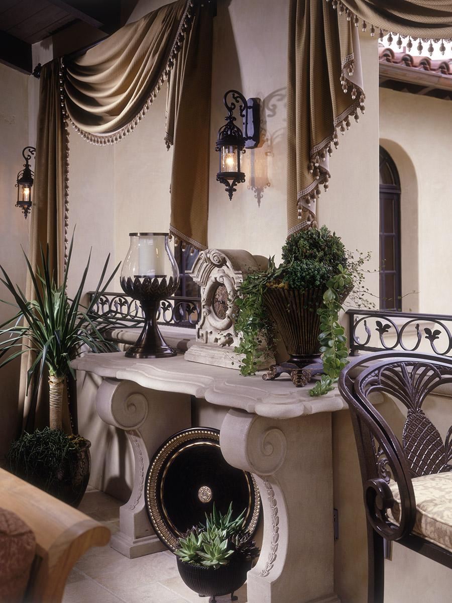 Loggia Room Design, Spanish Revival Detail
