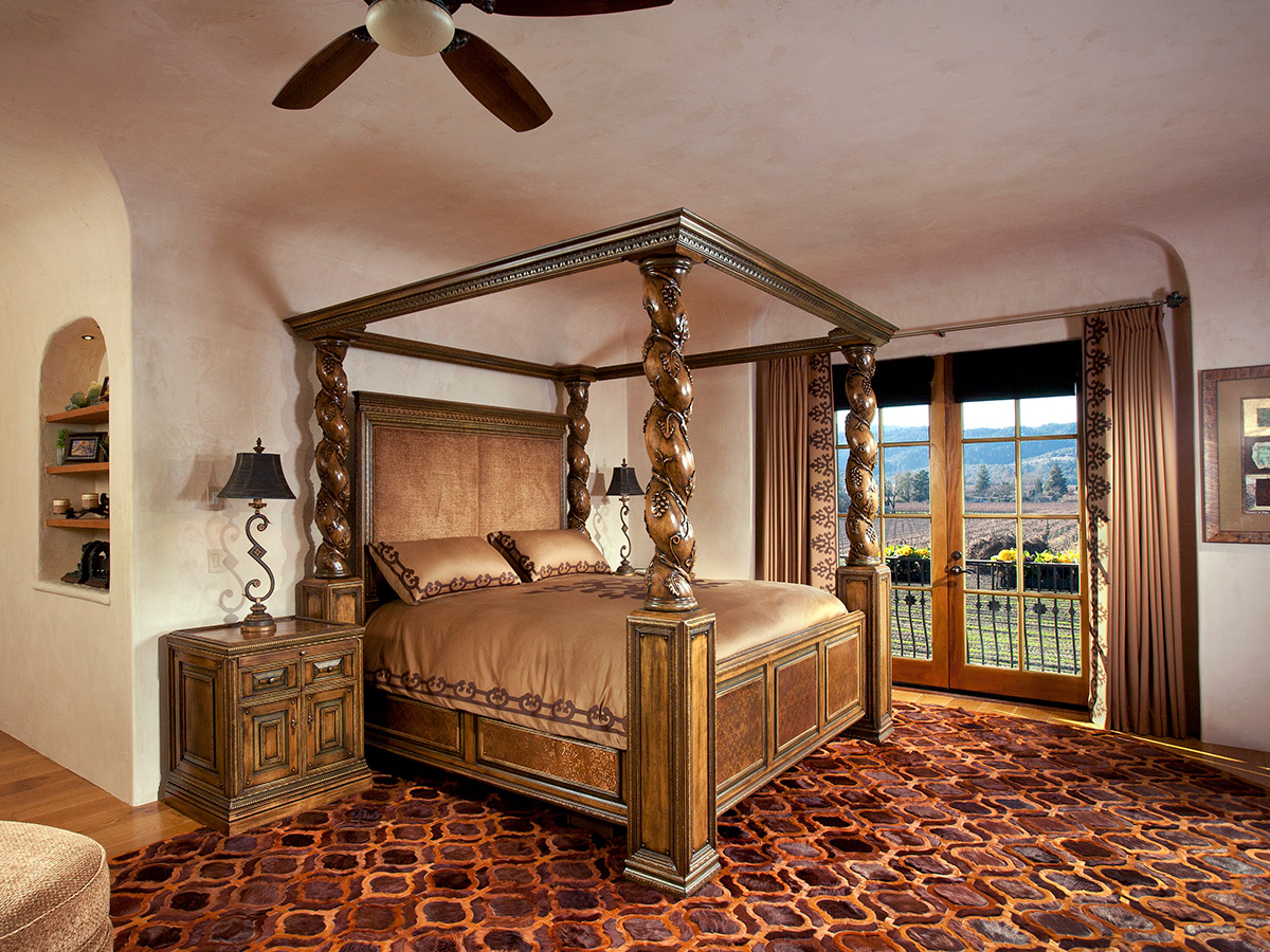 French Chateaux Vineyard Style Bedroom Design