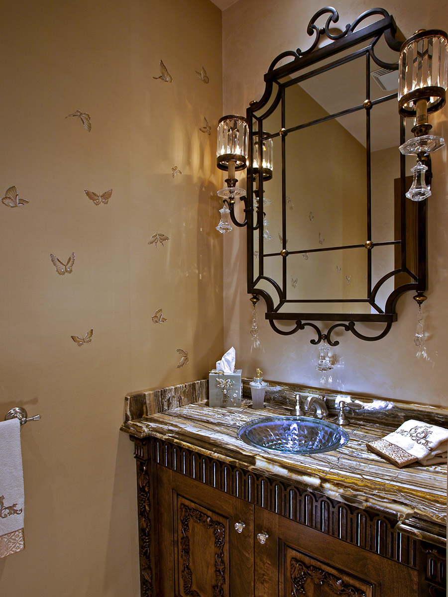 The French Chateaux Style Powder Bath After Photo