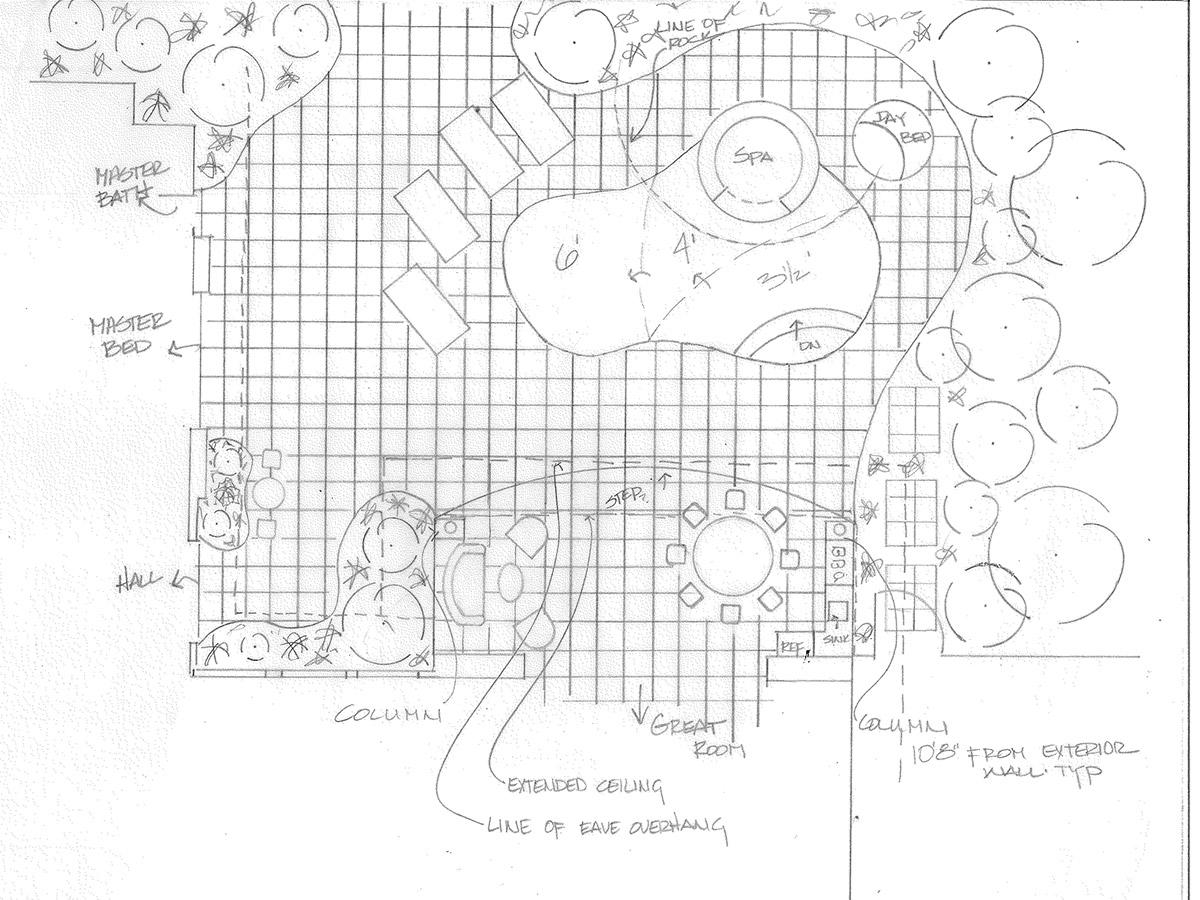 backyard design sketch