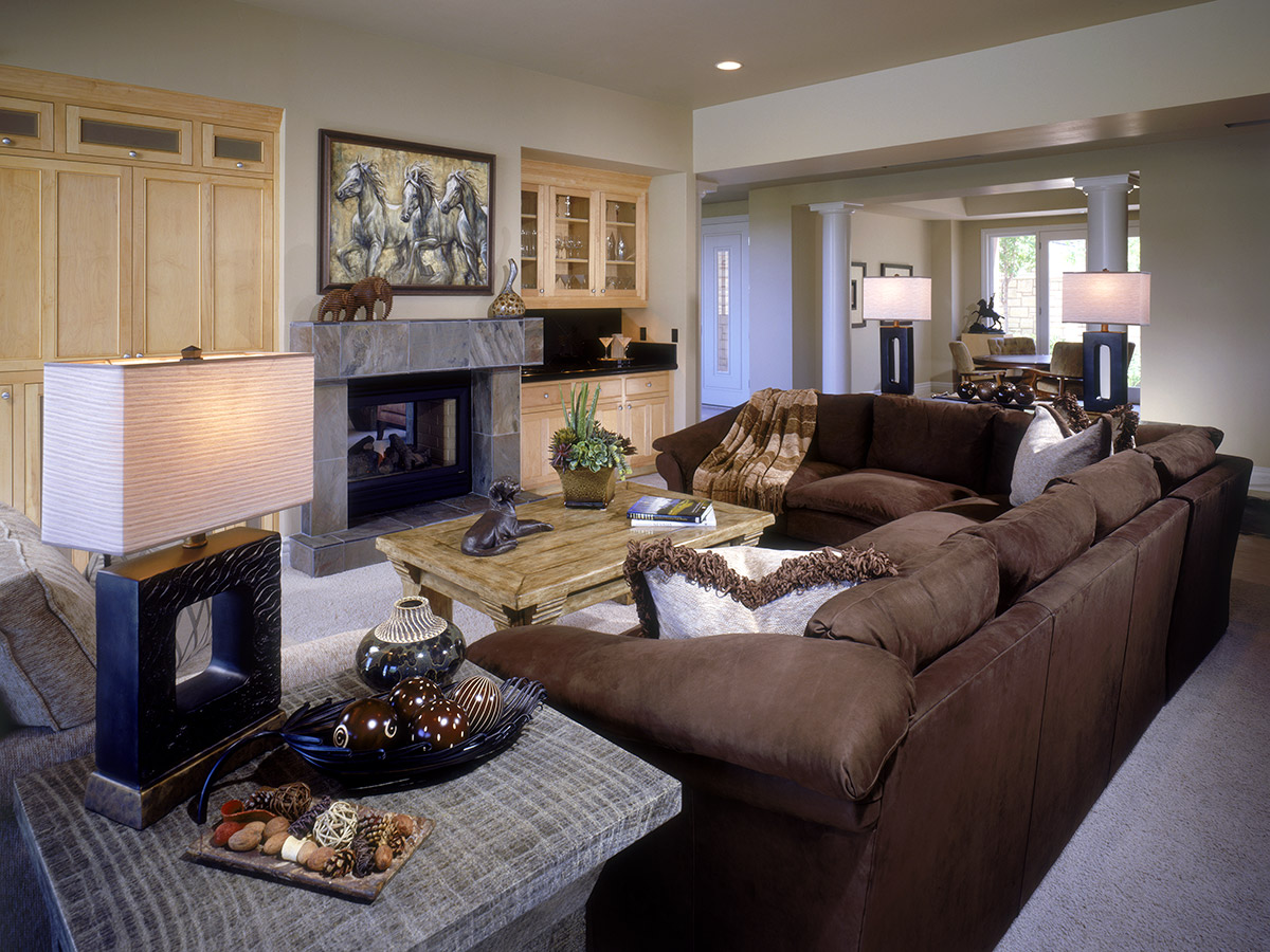 Contemporary Style Living Room, Gayle Lee Designs