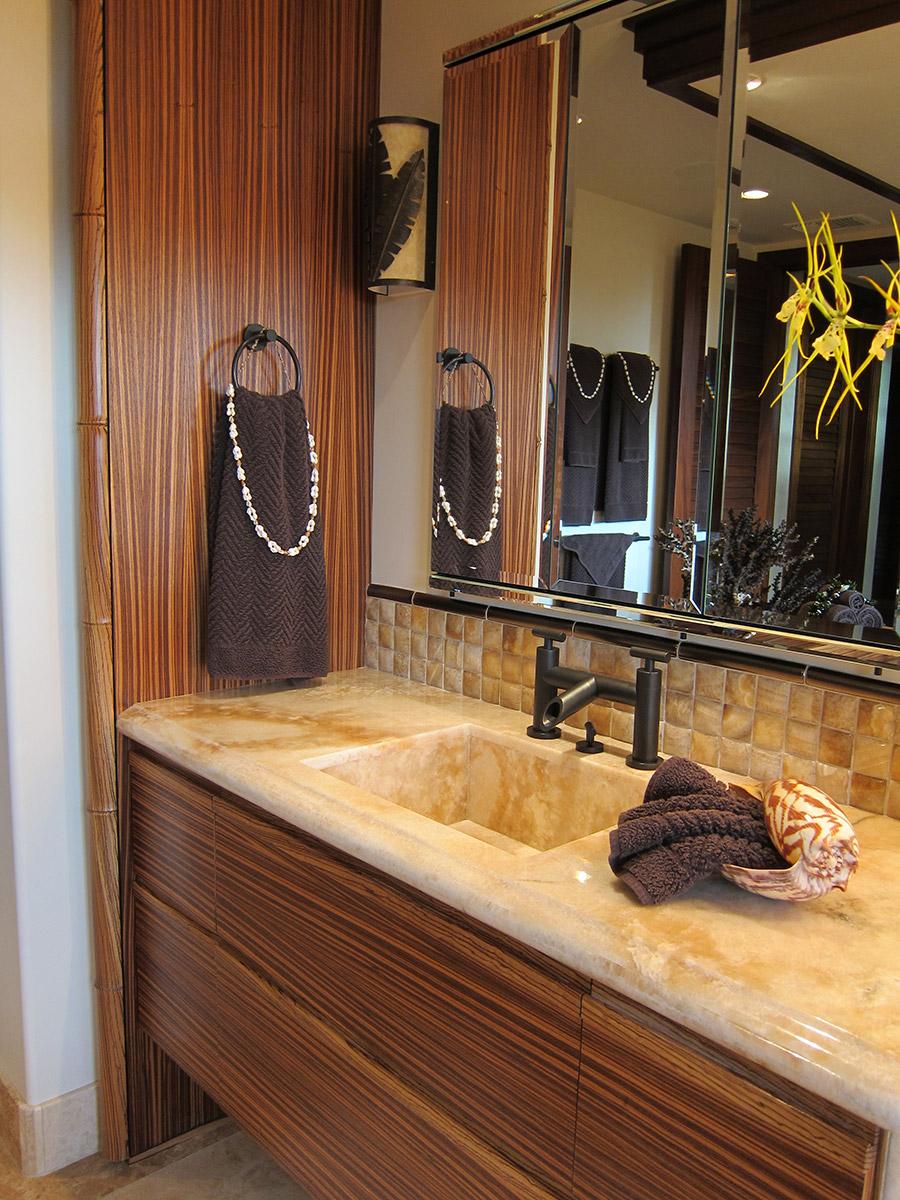 Custom Built In Bathroom Vanity